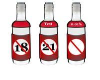 De flessen van de alcohol stock foto