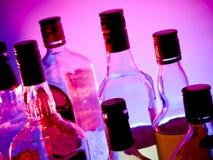 De flessen van de bar Stock Foto