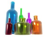 De Flessen van de diversiteit Royalty-vrije Stock Afbeelding