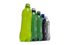 De Flessen van de drank Stock Afbeeldingen