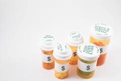 De Flessen van de geneeskunde Stock Foto