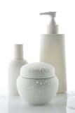 De flessen van de lotion Stock Foto