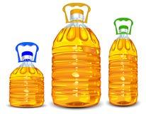 De flessen van de olie Stock Afbeeldingen