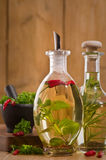 De Flessen van de Olijfolie Stock Foto