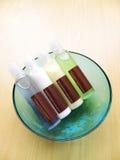 De flessen van de schoonheid bodycare Royalty-vrije Stock Foto's