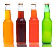 De Flessen van de soda met Bezinning Stock Afbeeldingen
