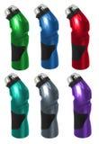 De Flessen van de sport stock foto's