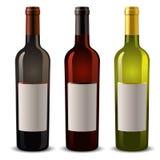 De flessen van de wijn Stock Afbeelding