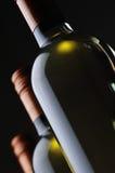 De Flessen van de wijn Royalty-vrije Stock Foto's