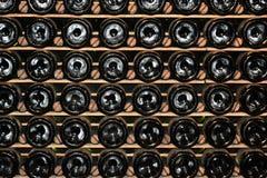 De flessen van de wijn stock fotografie