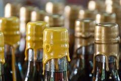 De Flessen van de wijn in Heilige Thomas Royalty-vrije Stock Afbeeldingen