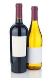 De Flessen van de wijn met Lege Etiketten Royalty-vrije Stock Afbeelding