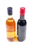 De flessen van de wisky en van de wijn Royalty-vrije Stock Afbeelding