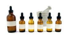 De flessen van Eyedropper stock afbeelding