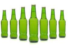 De flessen van het bier stock foto's