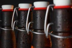 De flessen van het bier Stock Afbeelding