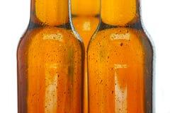De flessen van het bier Stock Foto