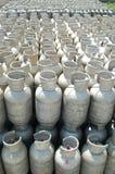 De flessen van het gas stock foto