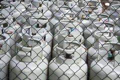 De flessen van het gas Stock Fotografie