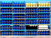 De Flessen van het gas Royalty-vrije Stock Foto's