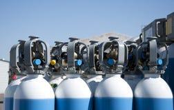 De Flessen van het gas Stock Foto's