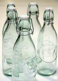 De flessen van het glas. Royalty-vrije Stock Afbeeldingen