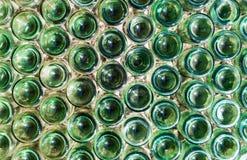 De flessen van het glas stock foto