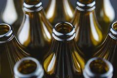 De flessen van het glas sluiten omhoog Stock Afbeelding