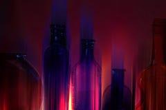 De Flessen van het Glas van het neon Royalty-vrije Stock Afbeeldingen