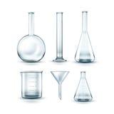 De flessen van het glaslaboratorium royalty-vrije illustratie