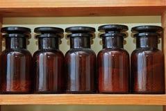 De flessen van het laboratorium Royalty-vrije Stock Foto's