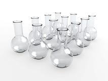 De flessen van het laboratorium Royalty-vrije Stock Afbeeldingen