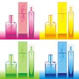 De flessen van het parfum Stock Illustratie