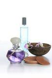 De flessen van het parfum stock foto's
