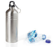 De flessen van het water royalty-vrije stock afbeeldingen