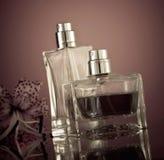 De flessen van parfums Stock Foto's