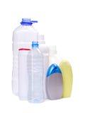 De flessen van plastieken Stock Foto