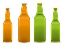 De flessen vectorillustratie van het bier Stock Afbeeldingen