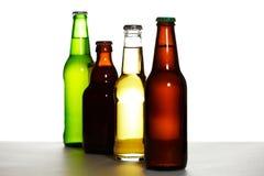 De flessenassortiment van het bier royalty-vrije stock fotografie