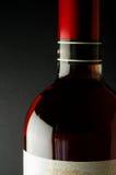 De flessenclose-up van de wijn Stock Foto's