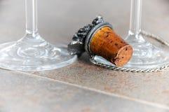 De flessencork van de wijn Stock Foto's