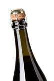 De flessenhals van Champagne Stock Foto's
