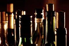 De flessenhalzen van de wijn Stock Fotografie