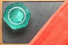 De flessenscène van het haargel Stock Afbeeldingen