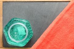 De flessenscène van het haargel Stock Fotografie