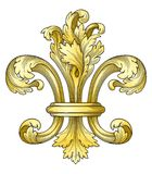 de Fleur złota lys Zdjęcie Royalty Free