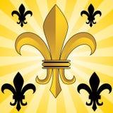 de Fleur złoty lis ilustracja wektor