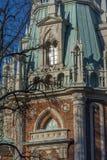 De Fliegeltorens van het Tsaritsyno-Paleis bouwden het eind van XVIII eeuw in royalty-vrije stock afbeeldingen