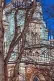 De Fliegeltorens van het Tsaritsyno-Paleis bouwden het eind van XVIII eeuw in royalty-vrije stock foto