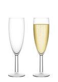 De fluiten van Champagne Royalty-vrije Stock Afbeeldingen